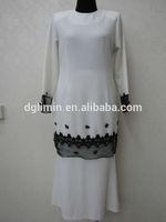 white abaya 2015 muslim baju kurung modern