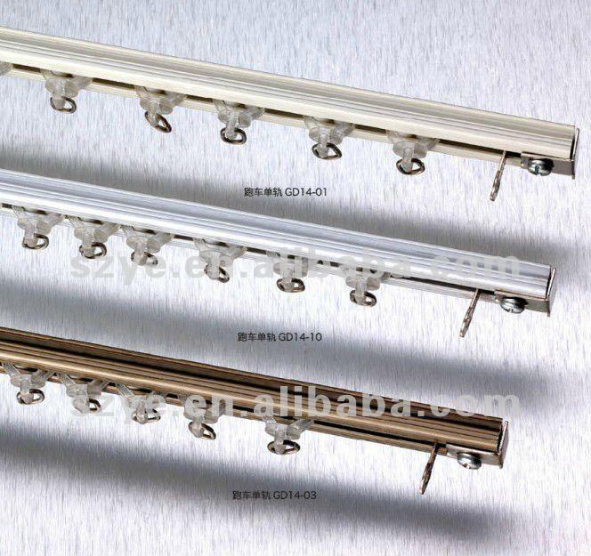 aluminium de rideau au plafond rail pas gd14 p 244 les de rideau voies accessoires