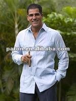 Men's Design Guayaberas Shirts SHM-56 100% Cotton Fabric