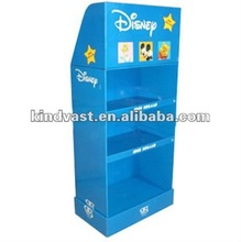 blue cardboard floor displays with dolls design stands with 3 layers
