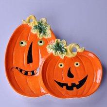 Halloween dinner pumpkin plate 2012