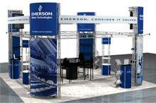 7.9''*7.9''(200*200mm) aluminum circular tube square trade exhibition stand truss