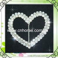 2 rows heart shaped rhinestone belt buckle