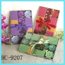 palo de incienso perfumado con vela set de regalo