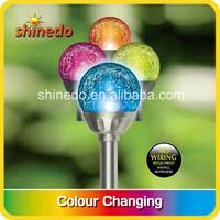 stainless steel colourful solar garden light
