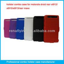 Superior rubberized holster combo case for motorola droid razr xt912 xt910