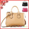 100% genuine leather handbag with shoulder strap woman hand bags 2014