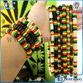 francia dreadlocks rasta venta al por mayor de collar pulsera set de reggae jamaicano de diseño