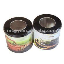 High Quality Round Tin Box With PVC Window, Food Gift Tin Box MC-211