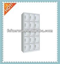 Hallway steel storage locker Cabinet with 15 doors