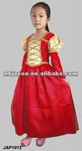 Red Princess Dress / christmas kids clothing sets / handmade kids costumes
