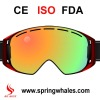 2013 new design fashion TPU flexible frame plastic snow goggles