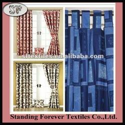 Leaf Stem Jacquard Pencil Pleat Lined Curtains