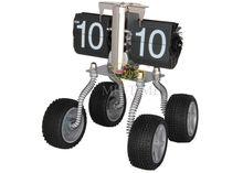 Flip desk clock motorcycle car 4 wheels be made in guangzhou huan yu Clock factory