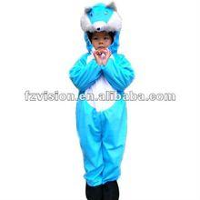 Eco-friendly Plush Animal Kids Costume Blue Cat