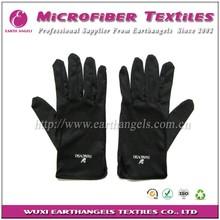 silk screen logo printed jewelry microfiber cleaning gloves