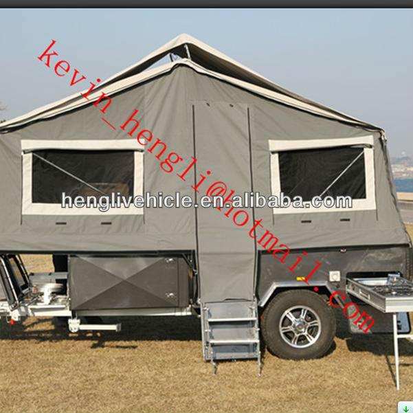Australiano estándares aprobado pisos duros fuera de la carretera de remolque de acampada