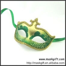 2012 Hot Seller Green and Gold Venetian Style Carnival Masks for Masquerade Party
