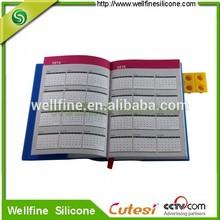 2014 calendar diary with blocks design silicone cover