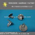 Reflexiva cap remache/de metal espejo uñas/decorativos accesorios para prendas de vestir, para el equipaje, de cuero