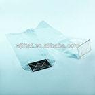square bottom plastic bag , bopp bag with card
