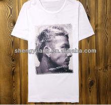 Top fashion Men's Bead embroidery heavy cotton t-shirt / hot cotton t-shirt T12740
