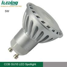 5w gu10 cob led spotlight 240lm wide voltage 100-240v