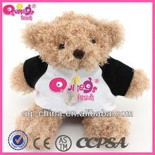 stuffed teddy bear with t shirt