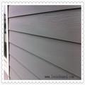 Madera/de ladrillo de grano textura de fibra de cemento junta de la pared exterior claddin casas prefabricadas de acero ligero casas