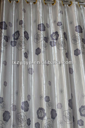 beautiful 100% polyester white with grey printing ZYHW0005 curtain design / texeile / window curtains