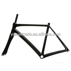 2014 YISHUNBIKE competitive price 57cm DI2 carbon road racing frameset NON-ISP system frame fixed gear