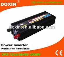 UPS power inverter 220v 220v transformer for home,car with 15A charger 2KW