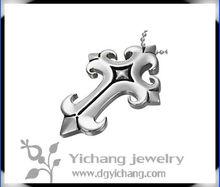 stylish stainless steel arrowhead pendant