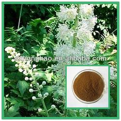 Natural Standardized 2.5%-8% Triterpene Glycosides Black Cohosh powder