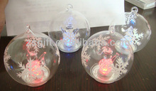 greatful clear glass ball led light christmas handicrafts