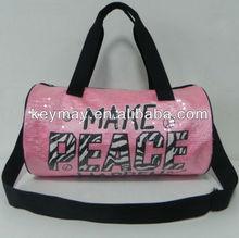 Girls Satin Barrel Sport Bag,sequins bag
