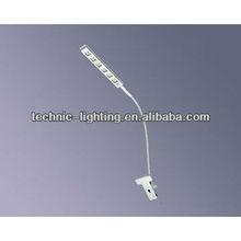 Flexible tube LED reading light,clipped led table light,led desk light for writing
