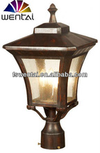 Best seller outdoor solar light post for villa use with steel --DH-1413
