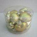 Refinado pintado a mano exterior regalos navidad adornos de bolas cristal