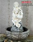 Resin angel sculpture water fountains