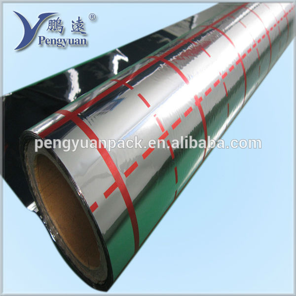 Metallized PET/CPP/BOPP films coating reflective insulation
