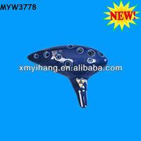 2013 new ceramic musical instrument 12 hole ceramic Diatonic ocarina