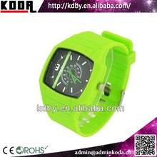 Futuristic Green Solid Plastic SBAO Quartz Watch