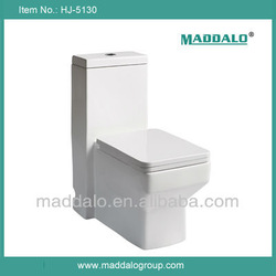 Square Fashion One Piece Siphonic Recliner Toilet
