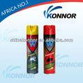 El asesinato de vuelo y de insectos rastreros de insecticida en aerosol,
