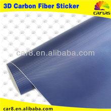 3D 30m Car Wrapping Vinyl Carbon Fiber Vinyl Car Wrap Printed Vinyl / Bubble Free / Size: 1.52 Meter x 30 Meter Blue