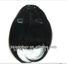 BEST SALING 100% natural clip in human hair bangs with reasonable price, natural color human hair bangs with best quality