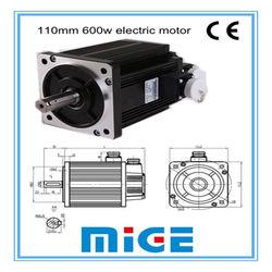 110mm 600w brushless energy saving electric motor