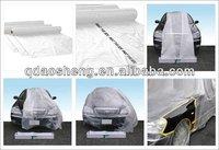 (Ao Sheng )HDPE Clear Automotive paint plastic masking film (Logo printable)