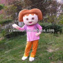 2013 popular doraa mascot costume party for advertising